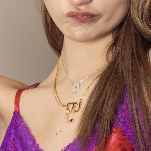 Claudia, Claire. Short necklace with the letter C