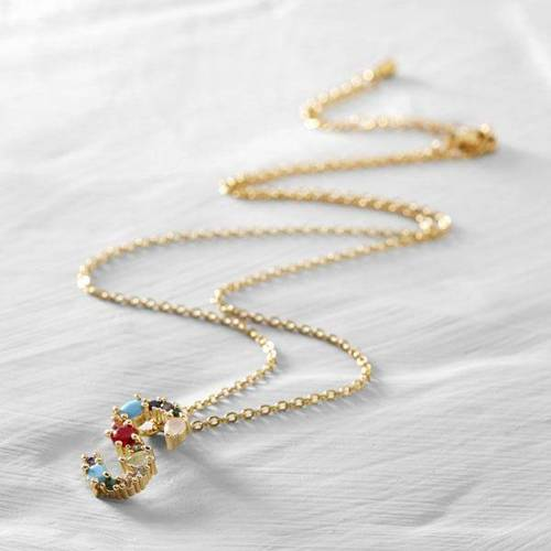 Sadie, Sally. Short necklace with the letter S