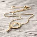 P for Phoebe. Necklace with the letter P